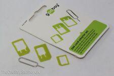 Goobay Sim Card Adaptor Set, Nano Sim, Micro Sim & iPhone Sim Slot Removal Tool