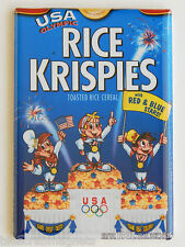 Olympic Rice Krispies FRIDGE MAGNET (2 x 3 inches) cereal box snap crackle pop