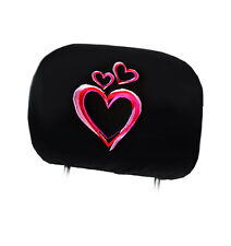 NEW DESIGN PINK HEART LOGO CAR TRUCK AUTO SEAT HEADREST COVER ACCESSORIES