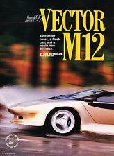 1997 Vector M12  Road Test -  Car Original Print Article J187