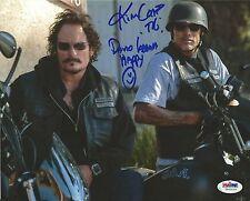 Kim Coates & David Labrava Signed Sons of Anarchy 8x10 Photo PSA/DNA COA Auto'd