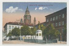 AK Mainz a.Rh. - Gutenberg-Denkmal und Dom  (E571)