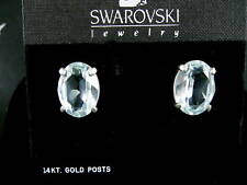 SIGNED SWAROVSKI  CRYSTALPIERCED EARRINGS NEW RETIRED