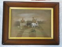 Harrington Bird (1846-1936) Pastel/ Watercolor Original Equestrian Painting 1896