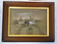 Harrington Bird(1846-1936) Pastel/ Watercolor Original Equestrian Painting 1896