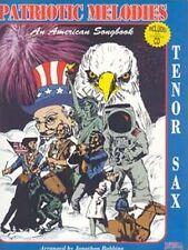 Santorella Patriotic Melodies Song Book Tendor Sax w/Cd