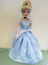 "Disney Princess Brass Key Porcelain Doll CINDERELLA 16"" LE  + Display Stand EXC"