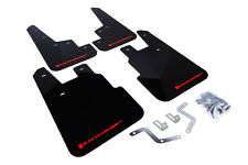 RallyArmor Black Mud Flaps (Red Logo) for 14-17 Subaru Forester