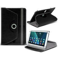 Giratorio Piel Artificial SOPORTE TABLET caso para Toshiba Excite Go Tableta