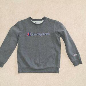 Champion Boys Grey Sweatshirt Size L 11-12 Years