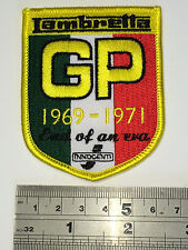 Lambretta GP 1969-1971 Patch - Embroidered - Iron or Sew On