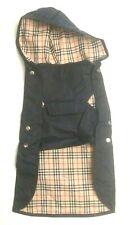 New Dog Coat Rain Jacket For XL Puppy Cute Black Burberry Design