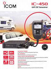 ICOM IC 450 IC-450 UHF CB 5W TWO WAY RADIO 80 Channel