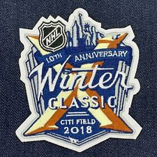 2018 NHL 10TH ANNIVERSARY WINTER CLASSIC JERSEY PATCH IRON ON SABRES VS RANGERS