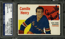 1960-61 1960 TOPPS HOCKEY~#53~CAMILLE HENRY~PSA/DNA AUTOGRAPHED SIGNED