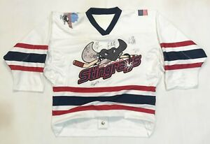 OT Sports South Carolina Stingrays ECHL Hockey Jersey White Sz 48 L Fight Strap