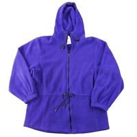 Vintage LL BEAN  Fleece Full Zip Synchilla Sweater Jacket Womens XXL Purple