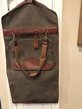 """Ghurka """"The Packet"""" Garment Bag No 83 Vintage Wool And Chestnut Leather Reg # U3"""