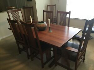 leopold stickley dining room table and buffet. Leaves add 15 inches each