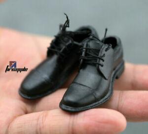1/6 Male Lacing Leather Shoes Hollow Inside Model Fit 12inch Action Figure Body