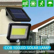 100LED Solar Power PIR Motion Sensor Outdoor Garden Security Lamp Light Hot P9J8