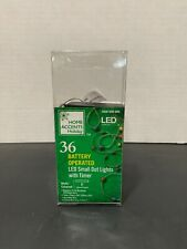 Home Accents 36 LED Battery Operated (3 AA) Fairy String Wire Lights