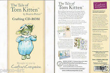 Crafters Companion The Tale of Tom Kitten by Beatrix Potter paper crafting Cdrom