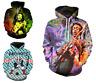 Women's/ Men's  Bob Marley 3D Print Hoodie Sweatshirt Pullover tops S-5XL SY01