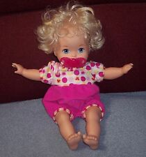 Fisher Price 2012 Little Mommy Laugh&Love Baby Interactive Doll NICE USED COND.
