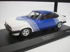 Minichamps 155788600 Ford Capri 3.0 1978 White With Blue Stripes