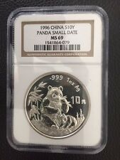 China 1996 Silver Panda Small Date - NGC MS69 SN: 1541864-079