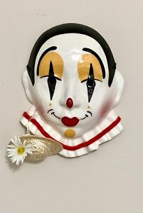 Ceramic Masquerade Mask Cast of Millions Hand Painted Yellow Red Black USA