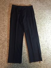 J Crew DRESS SUIT PANT 100% WOOL 30X30 BLACK Kd6