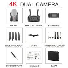 E88 Pro WIFI HD 4k Dual Camera High-Hold Mode Folding Arm Drone Gray