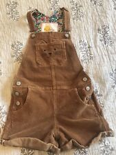 mini boden girls courduroy overall shorts 7-8yr