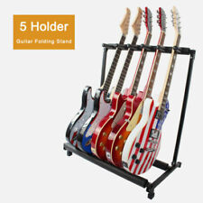 Black 5 Way Multi Guitar Rack Stand Padded Electric Acoustic Bass Holder A