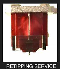 Denon DL-110 Moving Coil Cartridge Nude True Ellipsoid Diamond Retipping UPGRADE