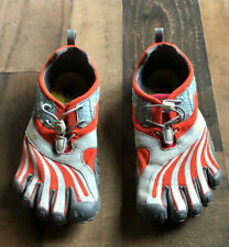 Vibram Mens 9 Fivefongers Running Shoes Orange Gray Barefoot