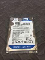 """Western Digital WD7500BPVT 2.5"""" SATA 5400RPM 8MB Cache 750GB HDD Tested Good!"""