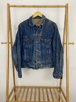 VTG Levi's Men's Dark Wash Denim Jean Trucker Jacket 70506-0216 Size 44 USA