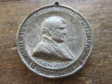 Rare Antique Religious Medal Victorian 1895 Joseph Sturge Golden Jubilee Coin