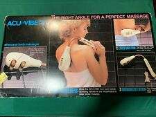 Vintage Acu-Vibe Pro Model Vibrating Massager--2 Speed-Works-Free US Shipping!!!