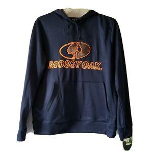 Men's Realtree Navy Blue Pullover Lined Fleece Hoodie Size Medium Hoody New NWT