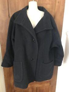 Black ladies size 16 Uk Planet Wool Coat,