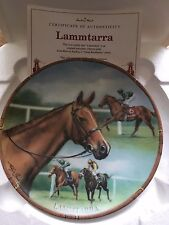 LAMMTARRA FAMOUS RACEHORSE PLATE DANBURY MINT ROYAL WORCESTER WITH CERTIFICATE