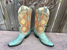 NEW Women CORRAL G2410 Turquoise Sky Blue Aztec Native Southwestern WOW 6.5 $299