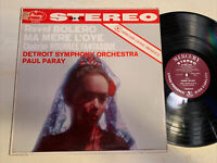 Paul Paray Ravel Bolero Chabrier LP Mercury Living Presence STEREO color back EX
