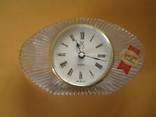 VIntage Crystal Anna Hutte Bleikristall Mantle Clock, Made in West Germany NOS
