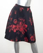 ESSENTIEL ANTWERP Womens KLARAFLA MIDI Black+Red Floral A-Line Skirt 34/2 NEW