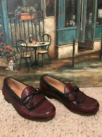Allen Edmonds Woodstock Slip On Burgundy/ Black Moc Toe Kiltie SZ 9 D Made In US